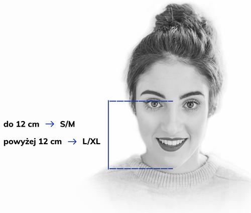 Instrukcja mierzenia maski pełnotwarzowej Beon
