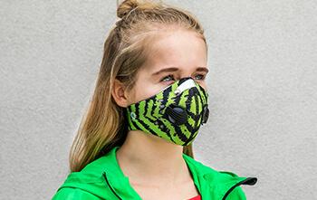 Maska antysmogowa Ozone Sport Green Zebra model